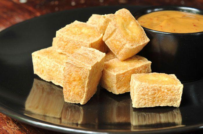 Fried Tofu with Peanut Sauce