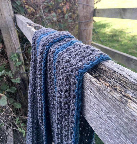 The Studio Stripe Scarf Crochet Pattern Textured Chunky Crochet