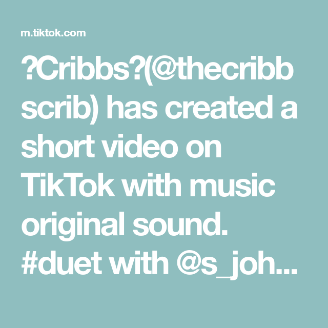 Cribbs Thecribbscrib Has Created A Short Video On Tiktok With Music Original Sound Duet With S Johnson In 2021 Halal Recipes Hot Mess Mom Christmas Chocolate