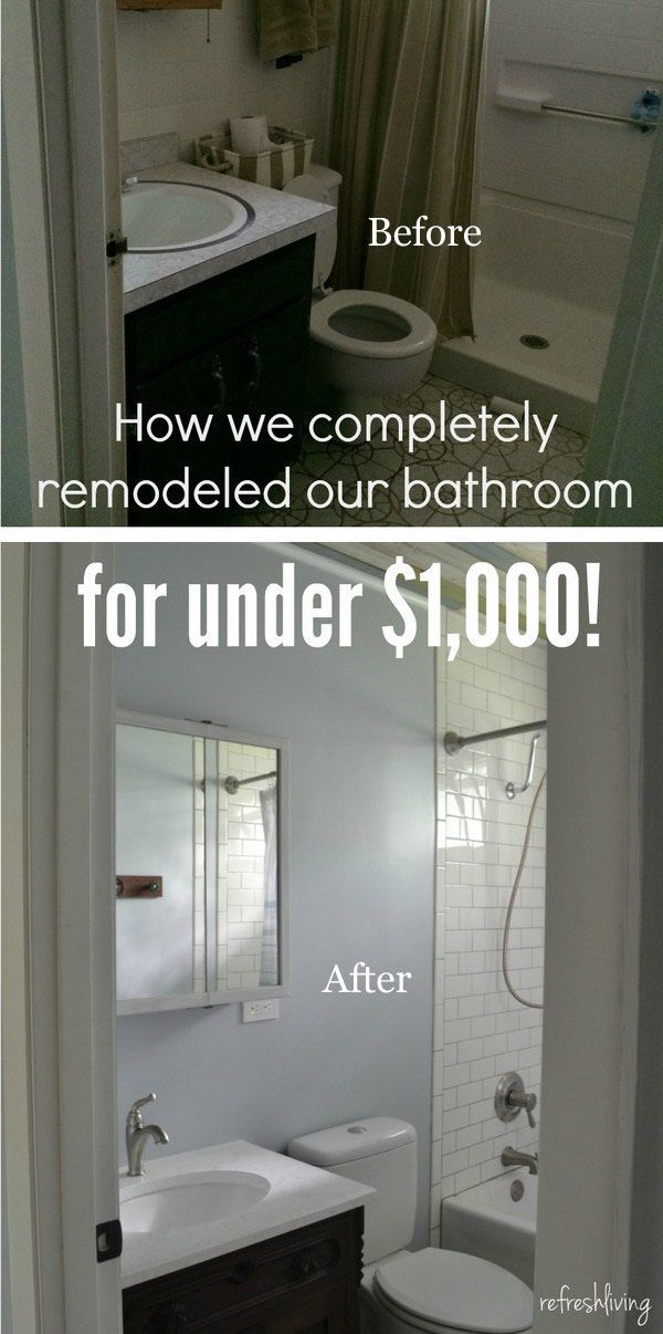 Before And After 40 Amazing Bathroom Makeovers Budget