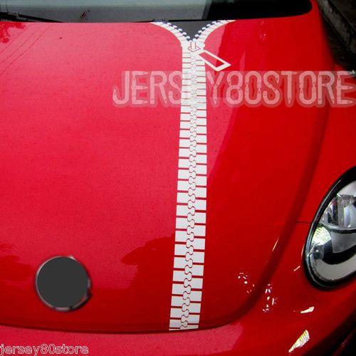 Diy zipper zippered headset headphone funny car hood reflective decal sticker
