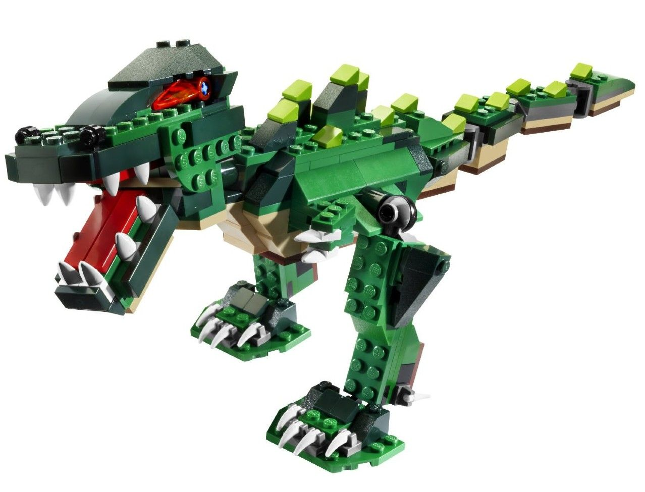 Build an awesome T Rex Lego Dinosaur. This dinosaur toy is hiding inside the LEGO Ferocious Creatures 5868 brick set and just waiting to get out.