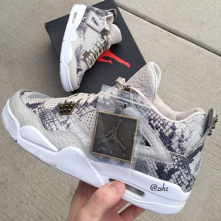 "size 40 cc21d fa0e7 Air Jordan 4 Retro ""Snakeskin"" (Preview Pictures) - EU Kicks  Sneaker  Magazine"