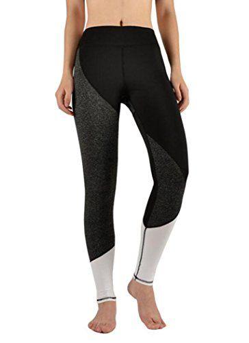 Women's Colorblock Yoga Pants Tummy Control Workout Leggings