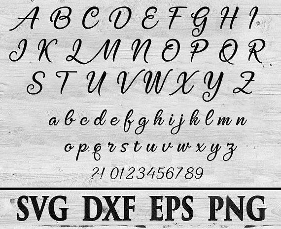 Download Svg Fonts Font svg font Cricut Silhouette Digital Full ...