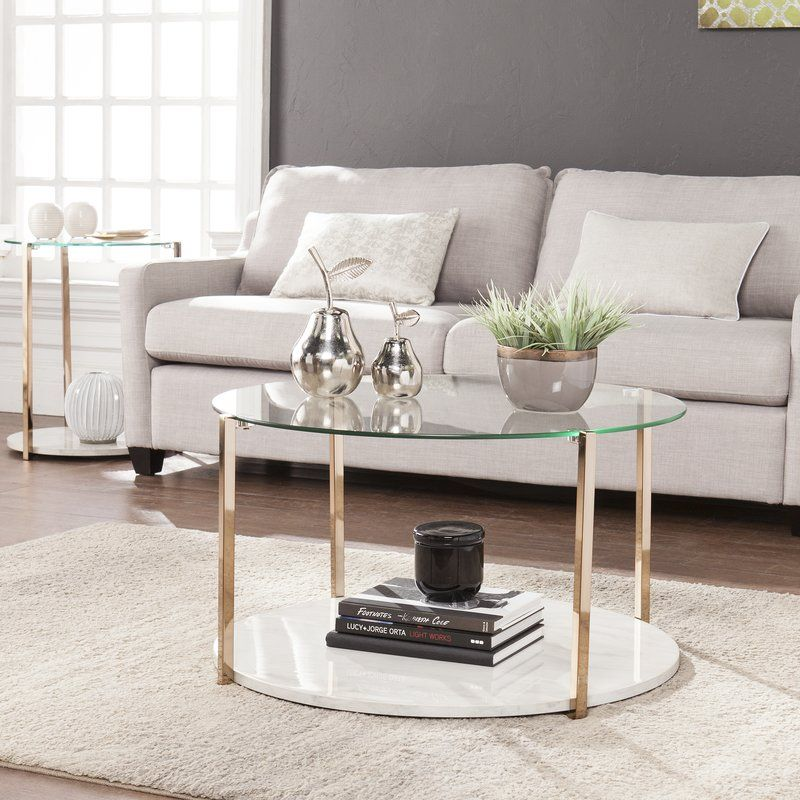 Hartranft Coffee Table Coffee Table Marble Coffee Table Faux Marble Coffee Table