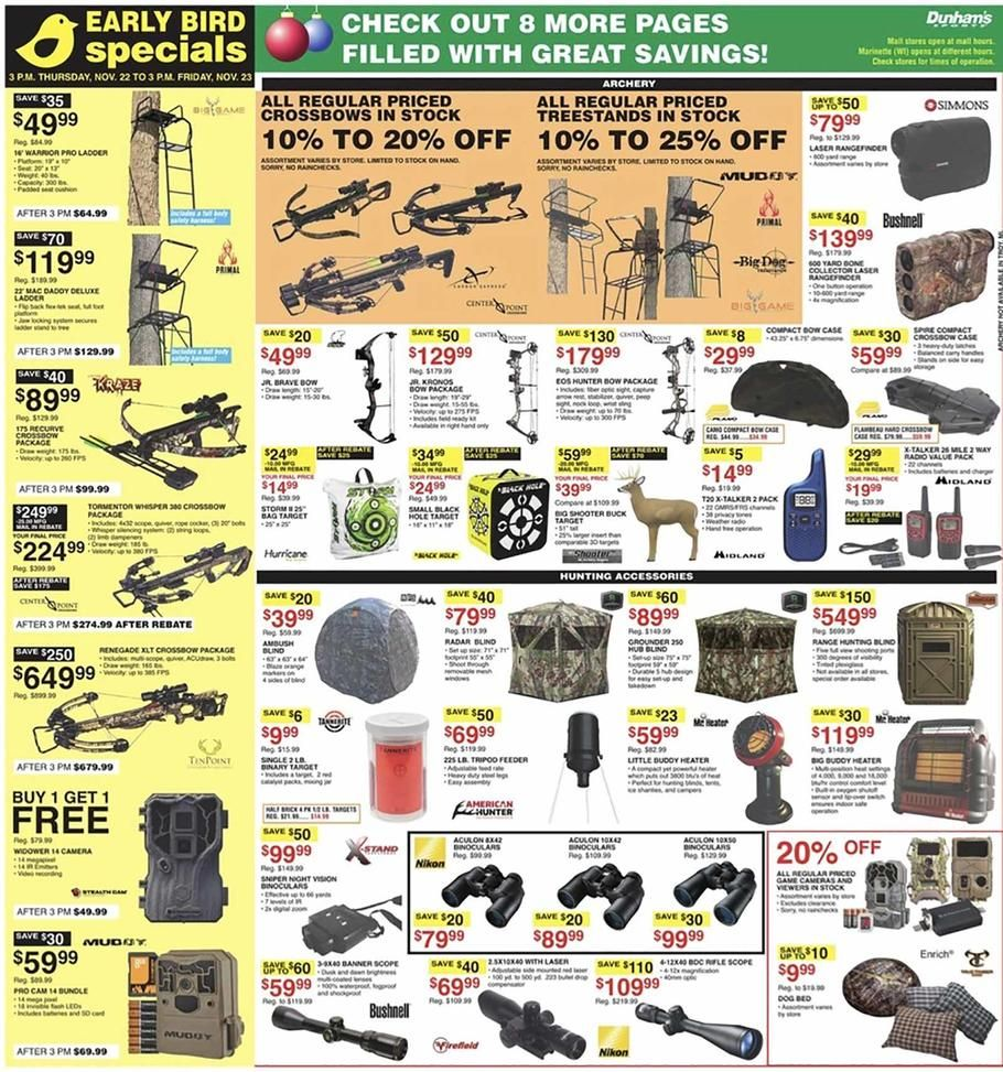 Dunham's Sports Black Friday Ad Scan, Deals and Sales 2019
