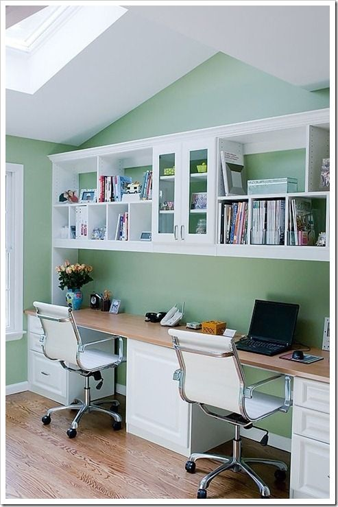 home office double desk. Two Person Desk Design Ideas For Your Home Office | Homeschool, Spaces And Double