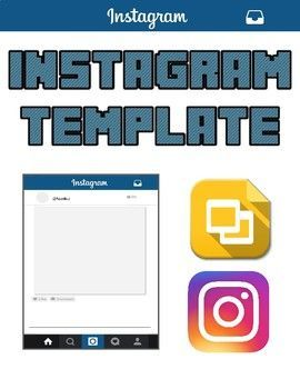 Instagram Template Editable On Google Slides Education Clroom Docs