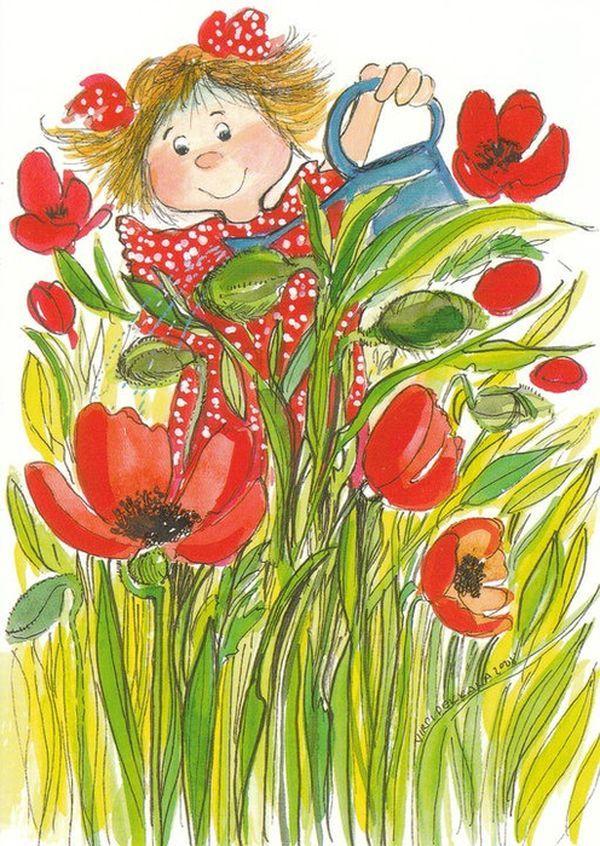 Весенние детские открытки