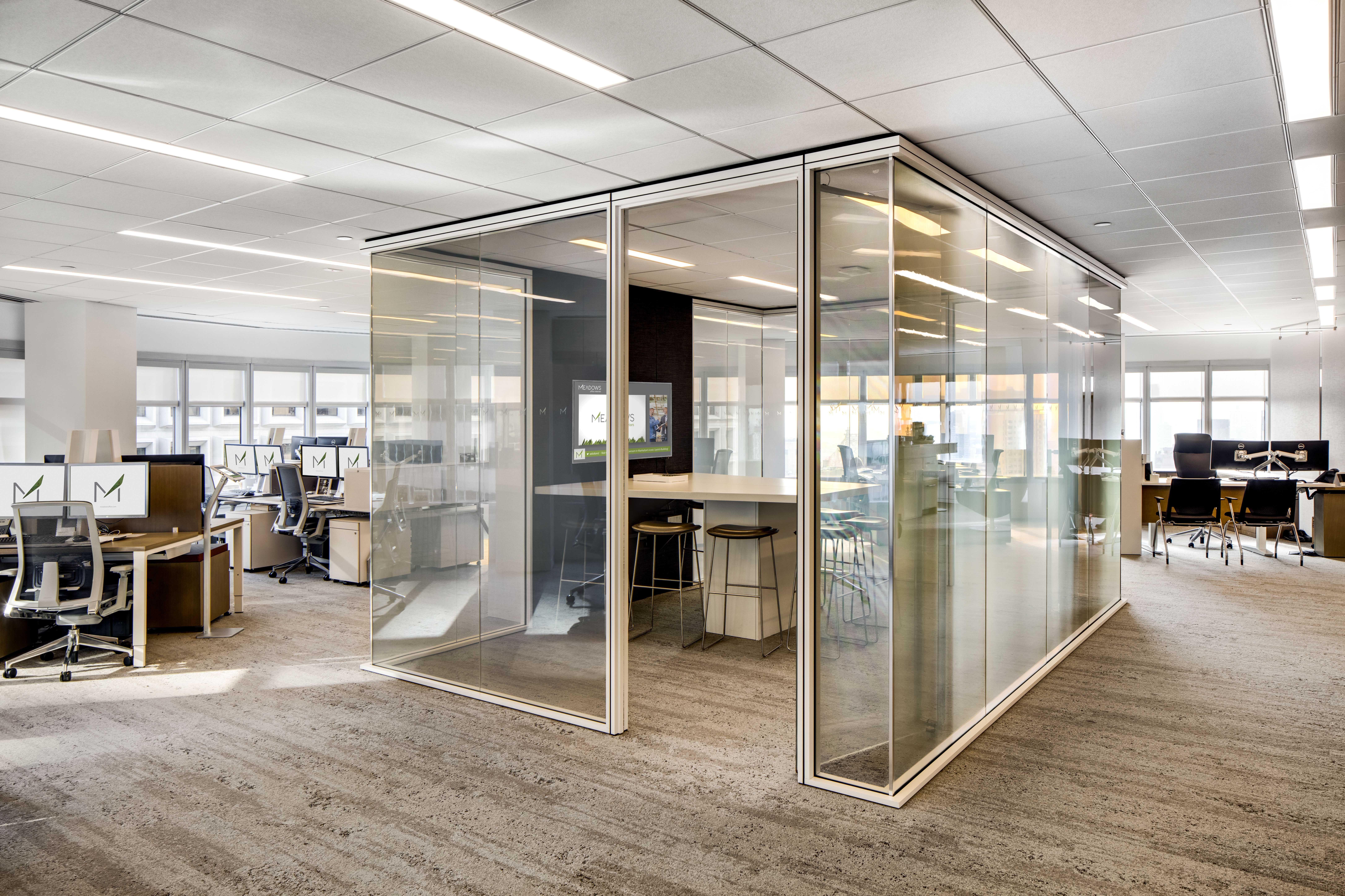 Meadow Office Glass In Open Position