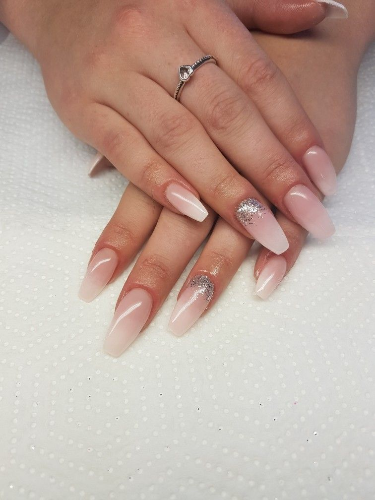 Babyboomers. Natural pink and white ombre. Gel nails. Done by me ...