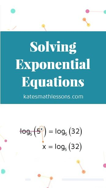 Solving Exponential Equations | Equation, Free math and Algebra