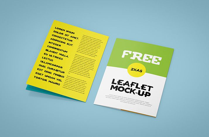 A5 Bi Fold Brochure Simple But Fun These Two Words Perfectly Describes Our New Leaflet Mockup There Is No Background Texture You Can