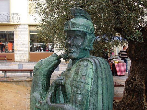 La fontaine du legionnaire. Dax