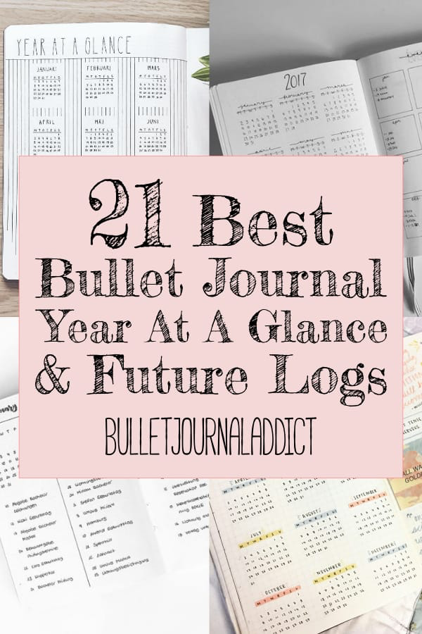 Bullet Journal Future Log Ideas  Year At A Glance Spreads for Bullet Journals  Bujo Inspiration for Future Logs  21 Best Bullet Journal Year At A Glance and Future Logs