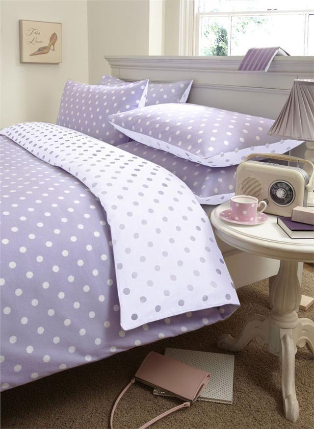 100% brushed cotton flannelette duvet quilt cover bed sets | Quilt ... : lilac quilt cover - Adamdwight.com