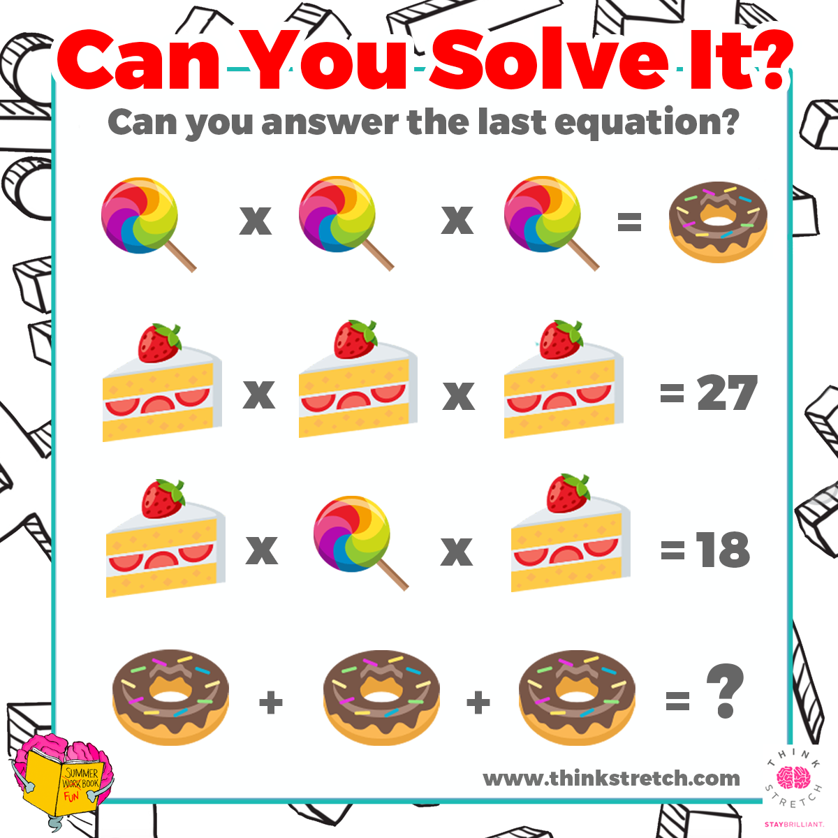 Pin By Thinkstretch On Math Monday Puzzles Amp Games