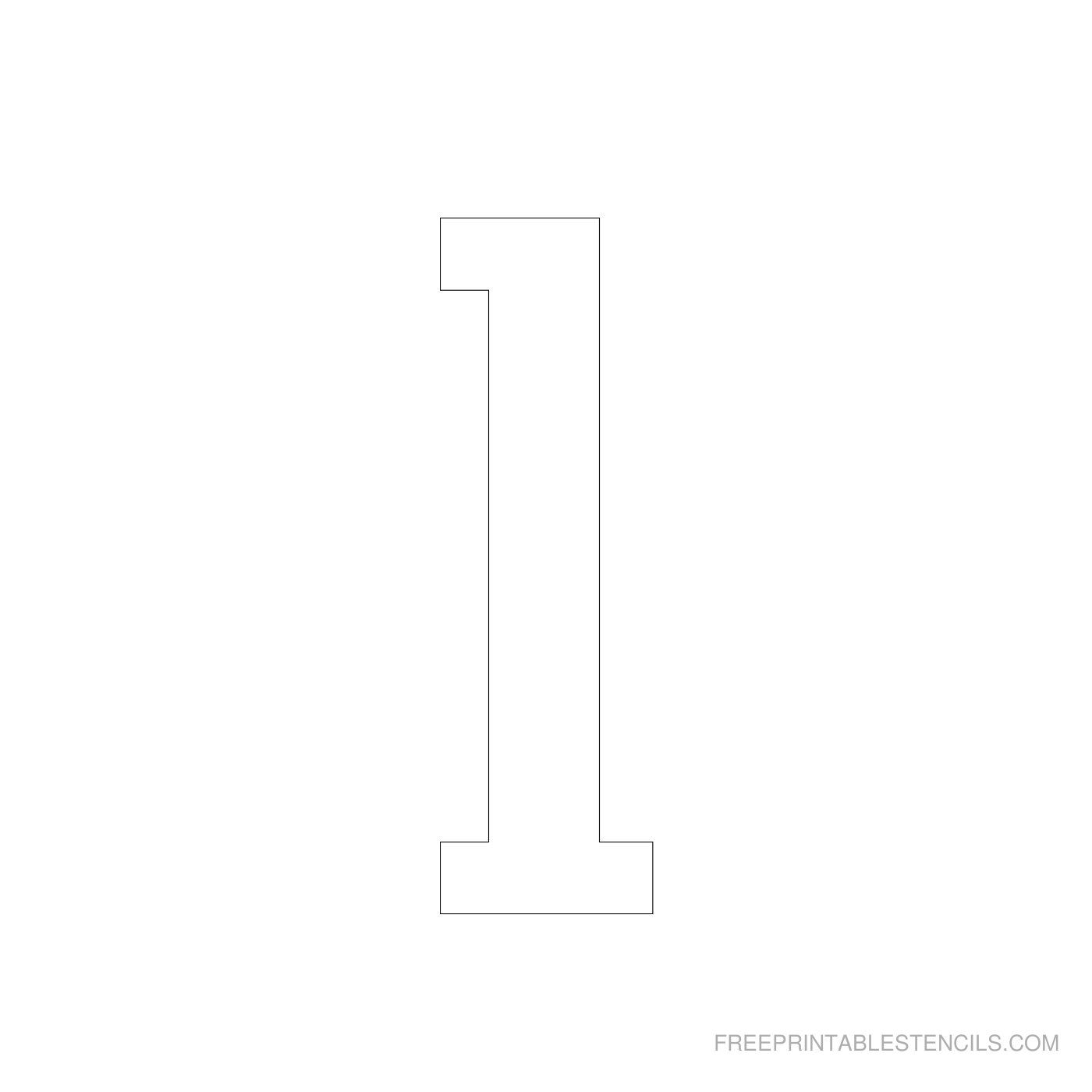 Printable 4 Inch Number Stencil 1