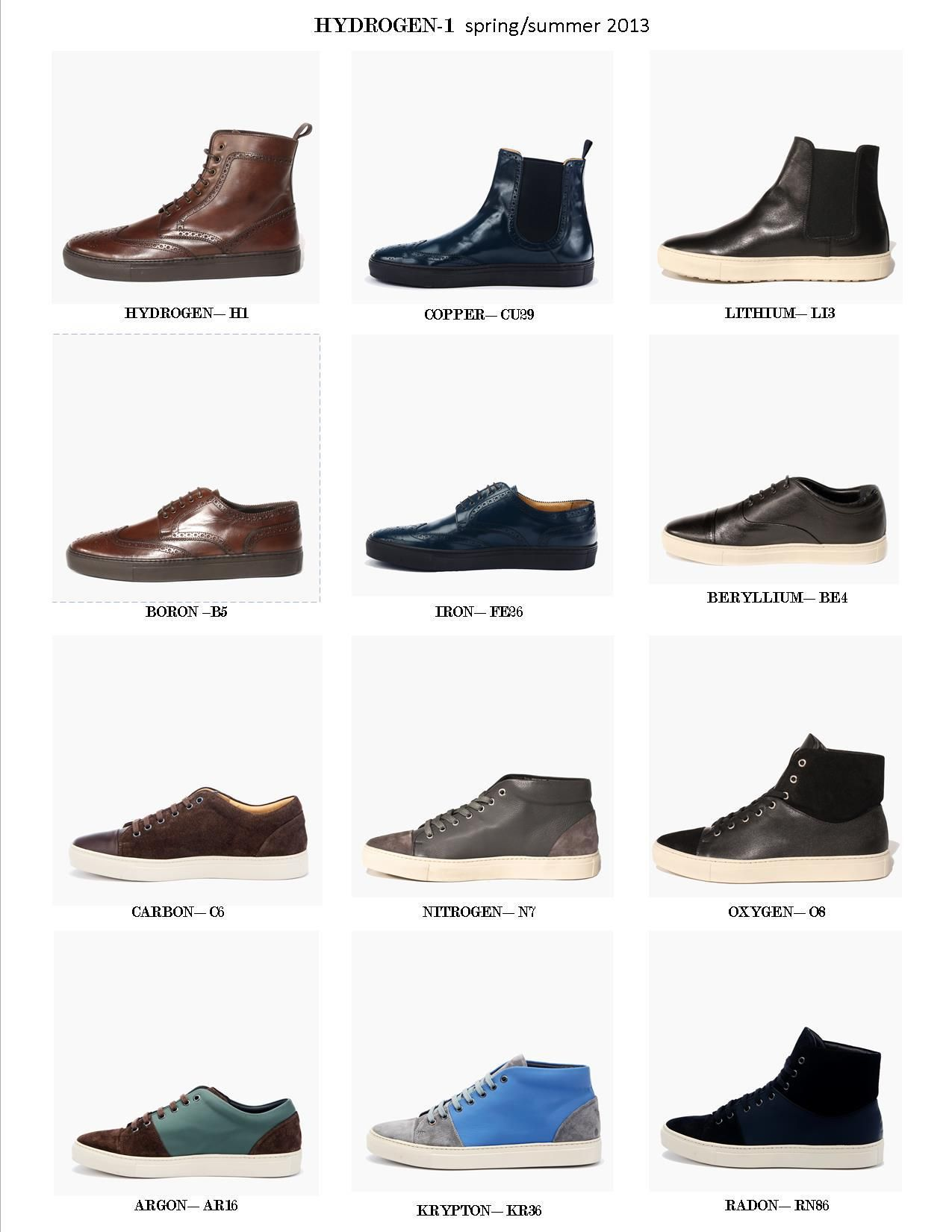 Hydrogen-1 2013 line up :) Italian Leather + Sneaker comfort. Which one's your favorite? #kickstarter