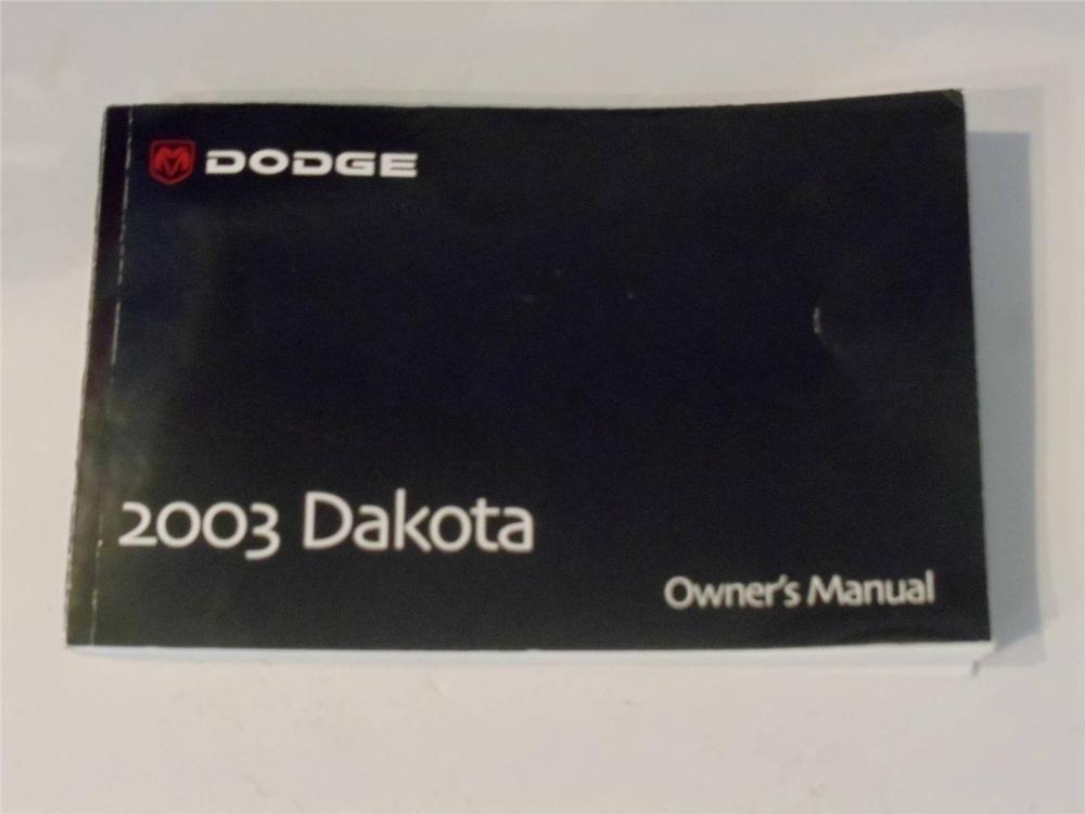 2003 Dodge Dakota Owners Manual Book Owners Manuals Dodge Dakota Manual