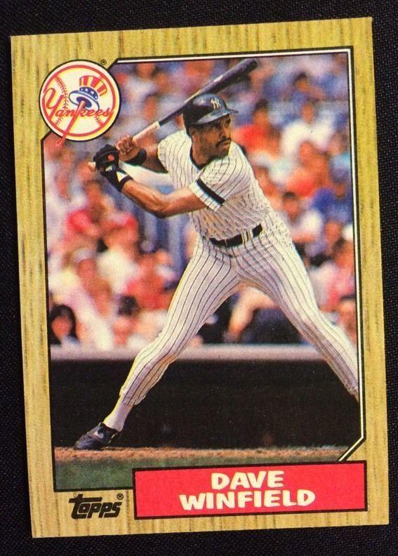 1987 Dave Winfield Baseball #770 Card Topps New York Yankees NY MLB #NewYorkYankees