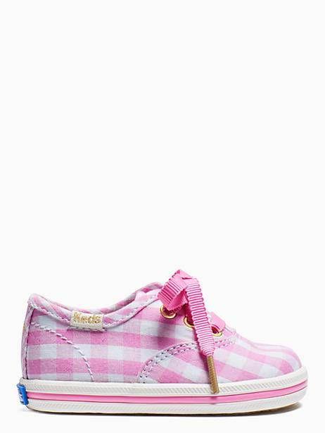 ac420f3475b Keds Kids X Kate Spade New York Champion Gingham Crib Sneakers