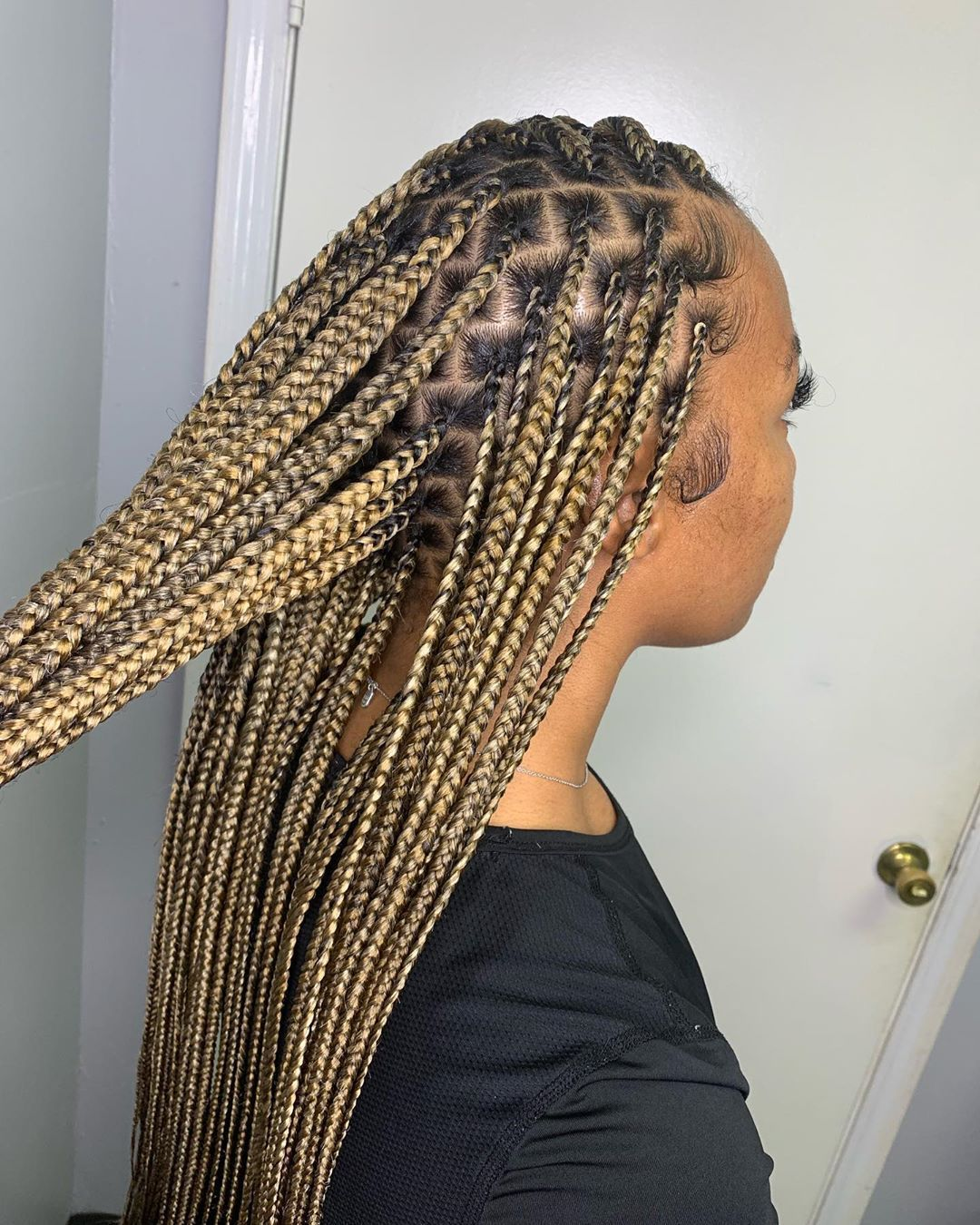 30 Beautiful Box Braid Hairstyles From The Most Beautiful People On The Internet Braided Hairstyles African Braids Hairstyles Blonde Box Braids