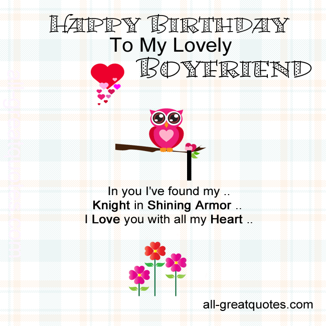 Happy Birthday Pics Boyfriend Happy Birthday Pinterest – Birthday Cards for Boyfriend