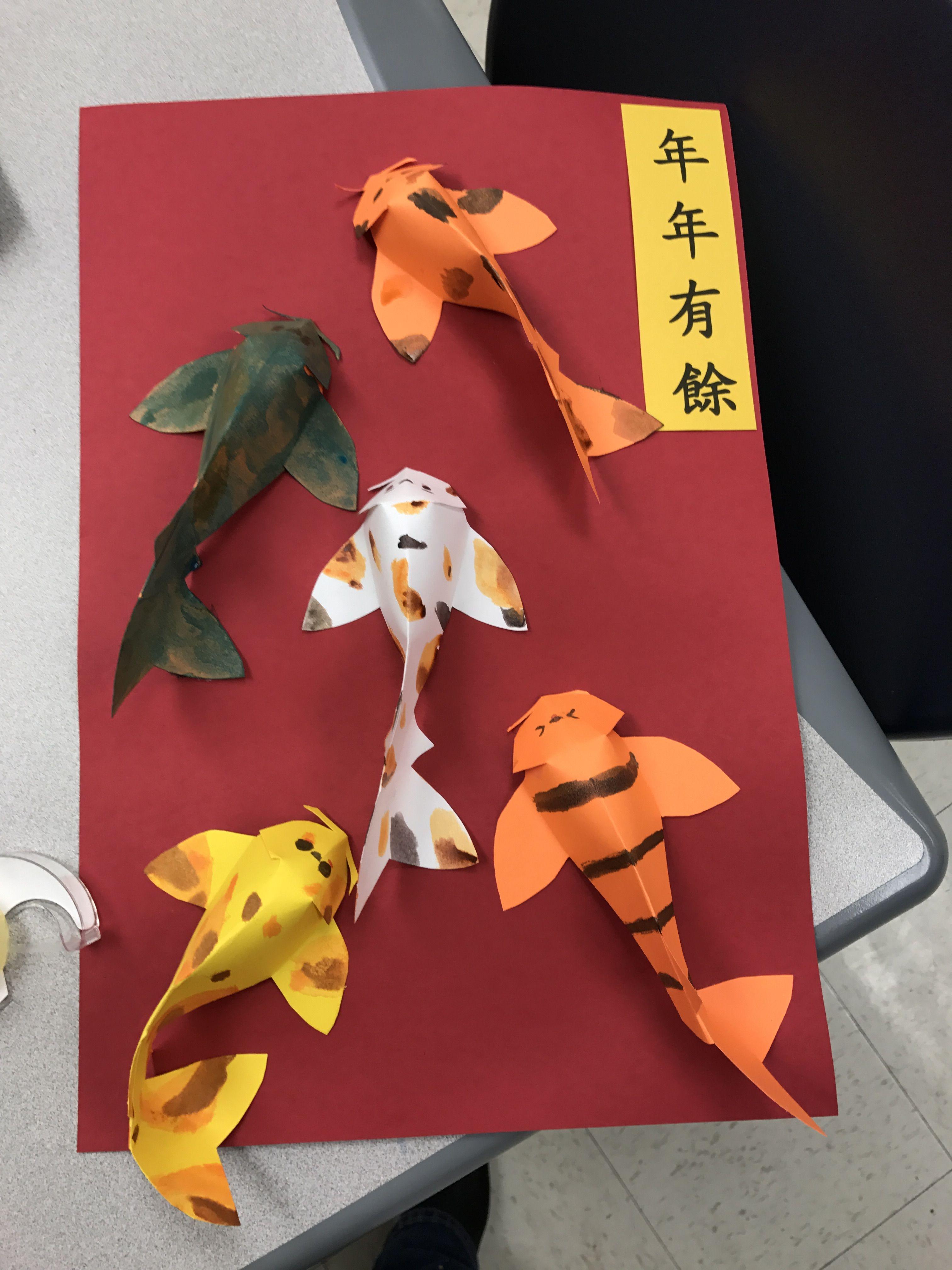 Koi Fish Chinese New Year Craft for Kids