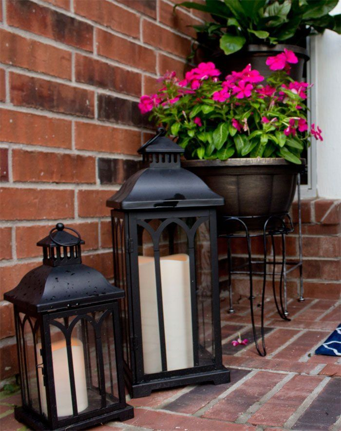 How To Decorate a Small Front Porch - Angela East
