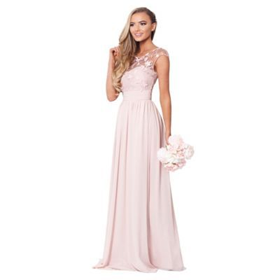 Sistaglam Rose Pink Beverley Lace Maxi Dress
