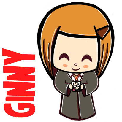Learn How To Draw Cute Cartoon Ginny Weasley From Harry Potter With This Simple Step By Step Drawing Lesson