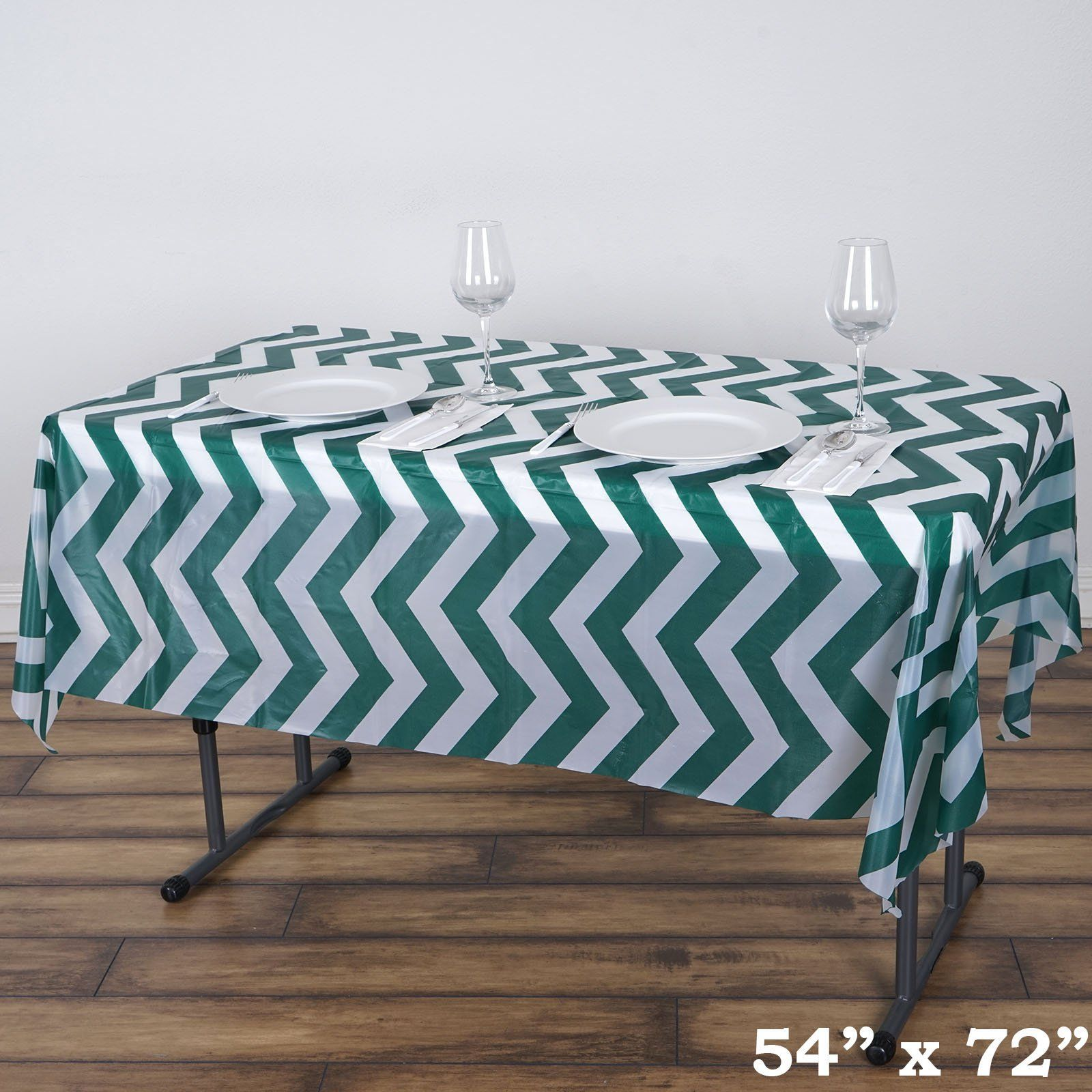 54 X 72 Hunter Emerald Green 10 Mil Thick Chevron Waterproof Tablecloth Pvc Rectangle Disposable Tablecloth Plastic Table Covers Vinyl Tablecloth Waterproof Tablecloth