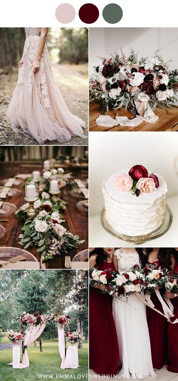 Die 7 schönsten Ideen für Altrosa Hochzeitsfarben im Frühling und Sommer