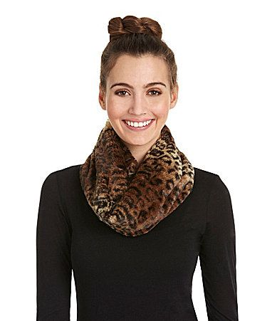 substantial animal print t3 scarf