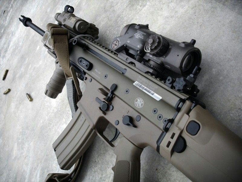 FN SCAR-L / MK16 with AN/PEQ-15 and ELCAN SpecterDR | Guns