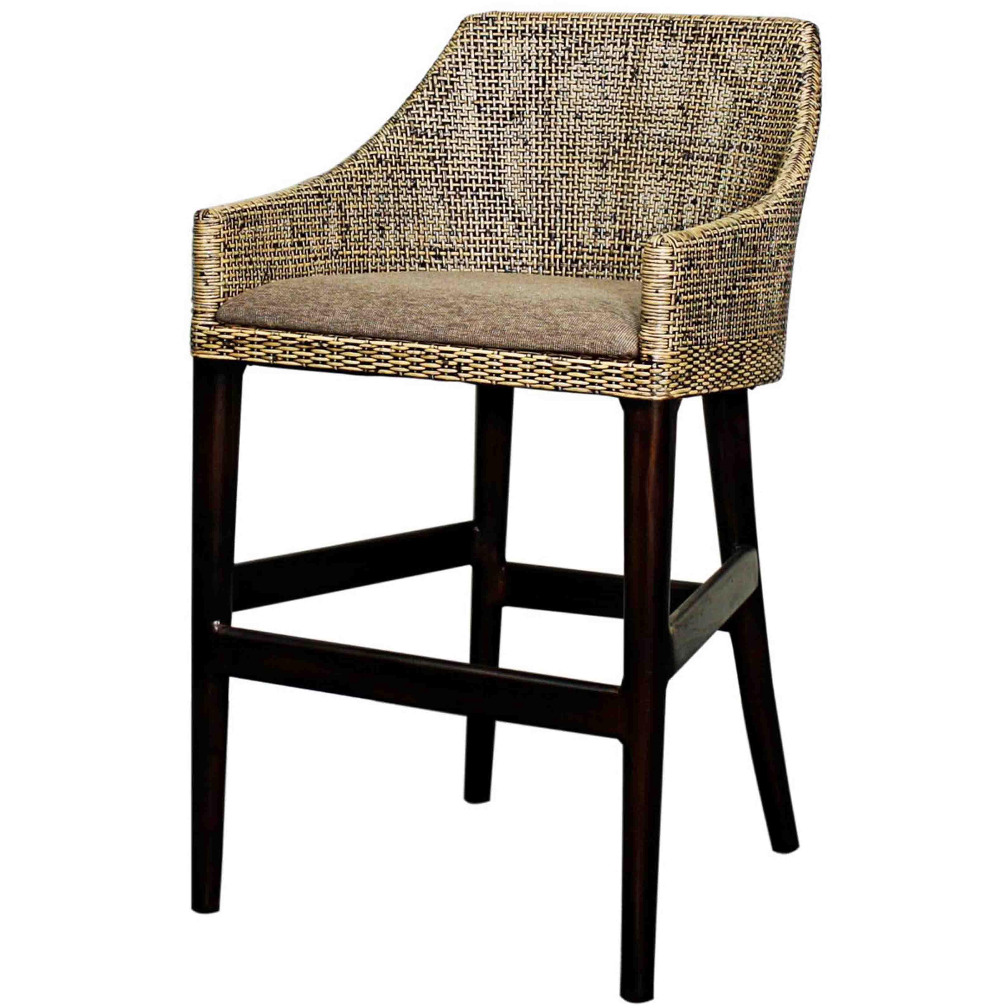 Orlanda Rattan Counter Stool Black Shadow Leg Black Shadow 878526