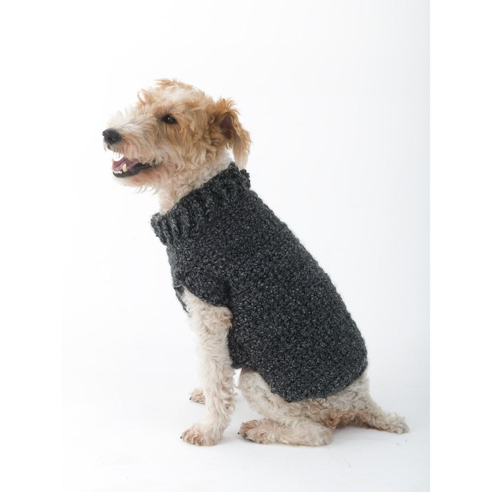 Poet Dog Sweater in Lion Brand Homespun - L32350. Discover more ...