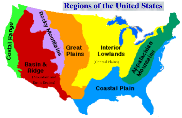 geographic regions in the united states
