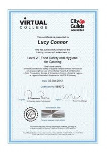 Virtual College Food Hygiene Certificate Food Safety