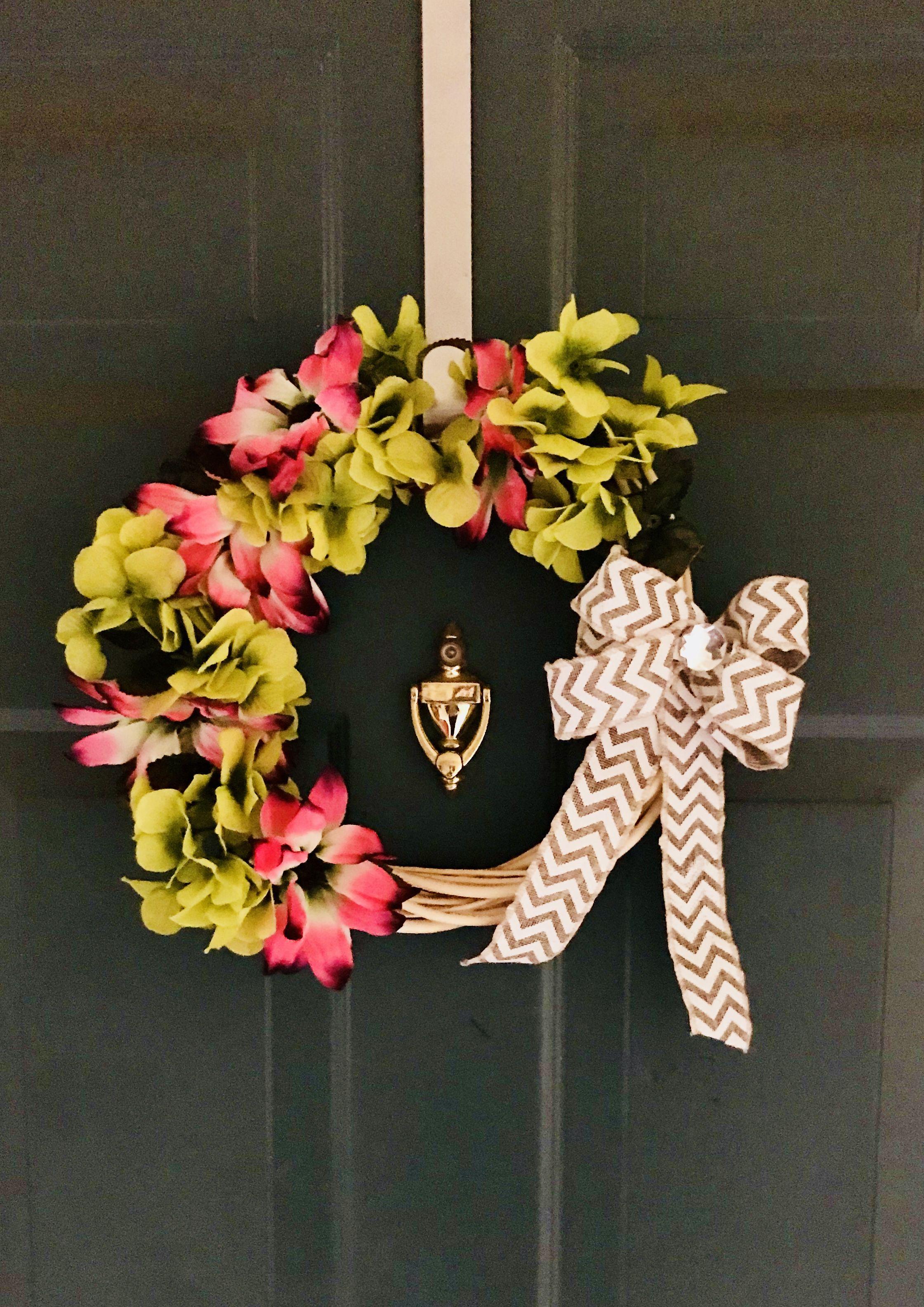 DIY Wreath Dollar Tree Diy wreath, Floral wreath, Wreaths