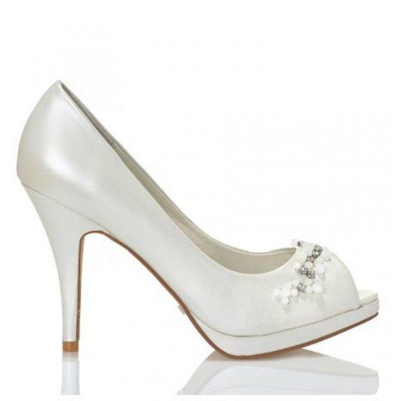 zapatos de novia peep toe modelo rosana de menbur