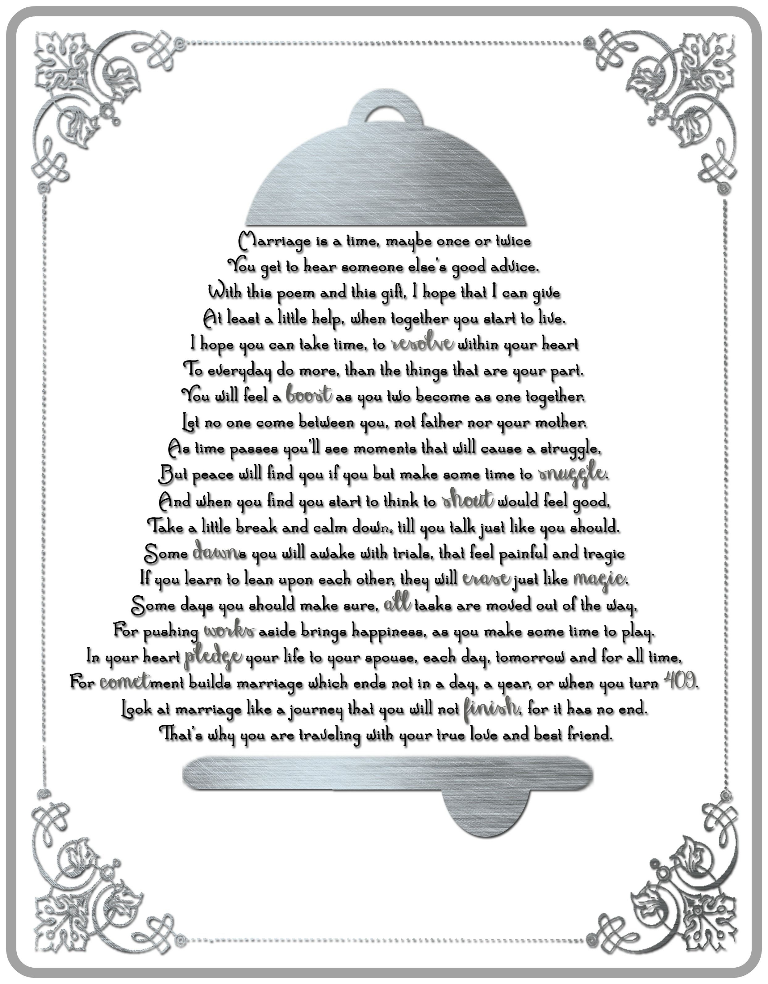 This is a cute poem to go along with cleaning supplies as a