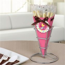 Playful Butterfly and Flowers - Birthday Party Candy Bouquet with Sticklettes
