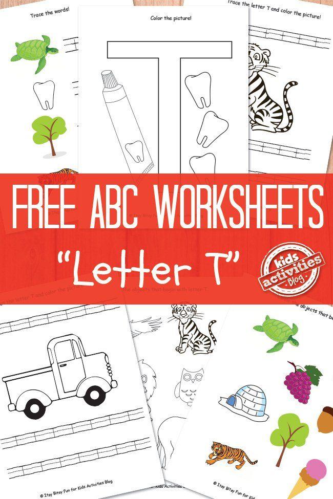Letter T Worksheets Free Kids Printable Letters Pinterest