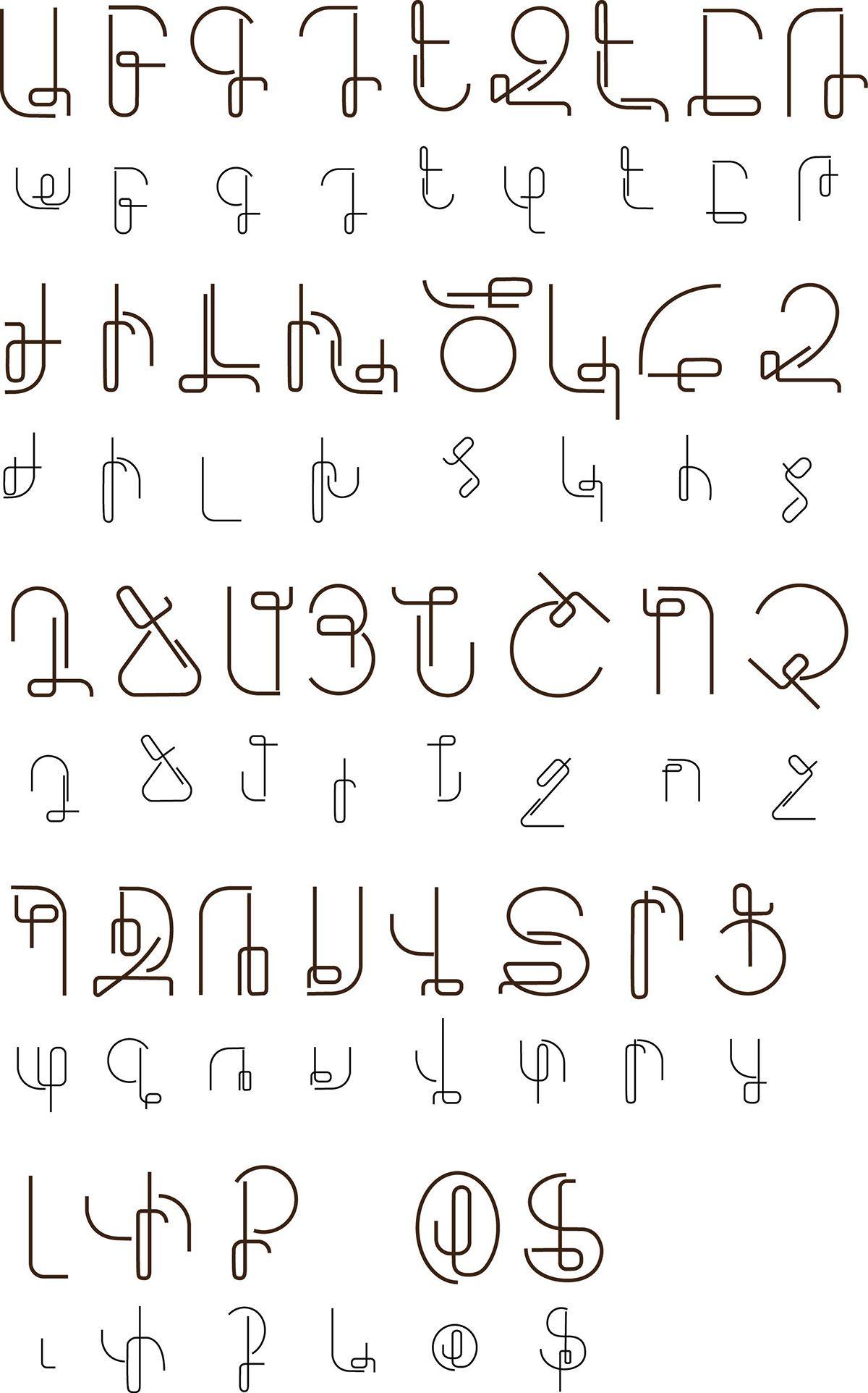 Latin/Cyrillic/ Armenian Alphabet / letters on Behance