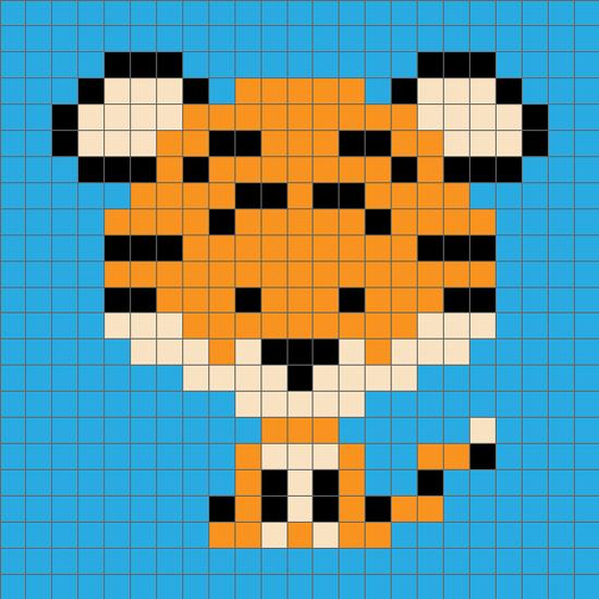 Zoodiacs Tiger C2c Crochet Graph C2c Crochet C2c