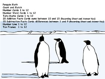 Penguin Math Center | Math centers, Penguin math, First ...
