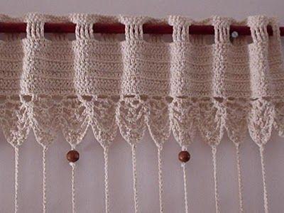 Tende a fili realizzate con lavorazione all\'uncinetto….. Originali ...